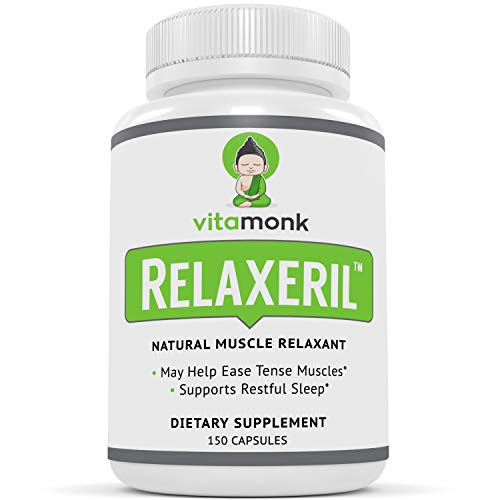 Relaxeril™ Best All-Natural Muscle Relaxer - Complete Formula for Lasting Leg Cramp, Soreness, Back Spasm, and Tension Relief - Muscle Relaxer Supplement to Ease Pain and Promote Deep Sleep