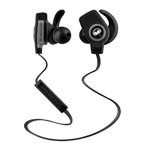 Monster Isport Superslim Bluetooth Wireless in-Ear Headphones - Black