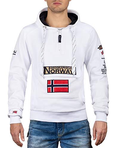 Geographical Norway Sudadera con capucha para hombre blanco M