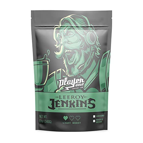 Leeroy Jenkins Extra Caffeinated Coffee - Blonde Roast, Whole Bean