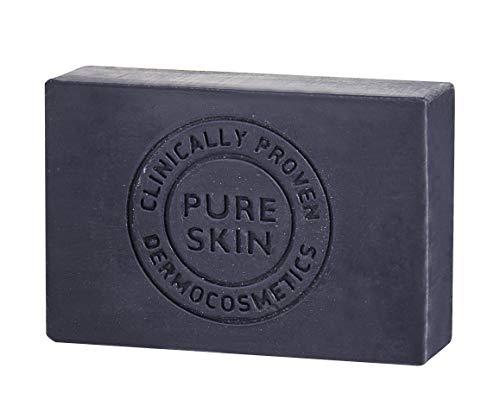 Natürliche Schwarze Seife 100g Mit Aktivierter Kohle I Reinigt Ihre Haut porentief I Entschlackender Gesicht & Körperreiniger Gegen Akne Ekzem Von Biotrade