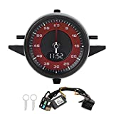 Aramox Car Cruscotto Indicatori Meter, Cruscotto Orologio Cronometro Lap Timer Gauge Set di Ricambio ABS per 2017-2020(Rosso)