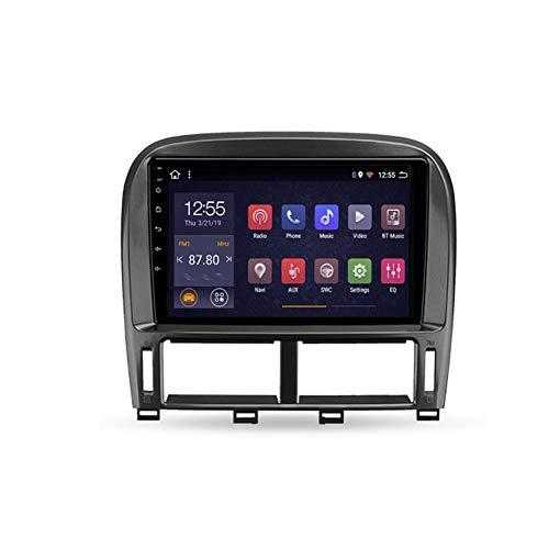 Foof Autoradio Bluetooth, 2 DIN Android Radio De Coche 9'' Pantalla Táctil WiFi Información del Coche Plug and Play Completo RCA Soporte Carautoplay/GPS/Dab+/OBDII para Lexus LS430,Type a,WiFi 2G+32G