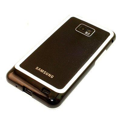 Samsung Galaxy S2 Bumper, Hülle Cover Slim Hülle [Silikon TPU Rahmen] Stoßfeste Handyhülle für Samsung Galaxy S2 (i9100) Schutzhülle [Schwarz-Weiss]