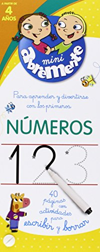Números. 40 Páginas Con Actividades Para Escribir Y Borrar (INFANTIL)