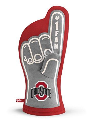 YouTheFan NCAA Ohio State Buckeyes #1 Oven Mitt , 13.25' x 6.5'