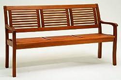 Gartenbank Eukalyptus 3 Sitzer