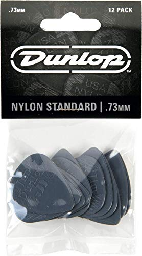 Dunlop 44P.73 Nylon Standard, Medium Gray, .73mm, 12/Player's Pack