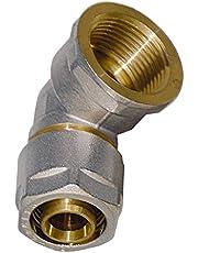 WIROFLEX | Hoek inclusief adapter | Klemring | Complete oplossing | Schroefsysteem | Fitting | 16 x 16 mm voor meerlaagse verbindingsbuis.