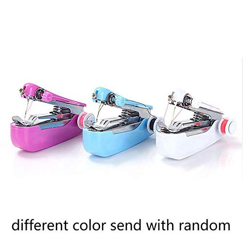 Review Of Couple Handheld Sewing Machine Mini Cordless Handheld Electric Sewing Machine Quick Handy ...