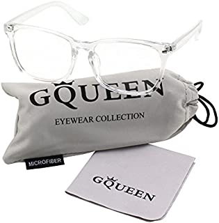 GQUEEN 201582 Large Oversized Frame Horn Rimmed Clear...