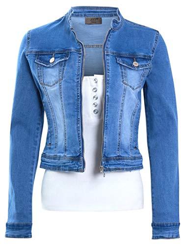 SS7 Damen Jeansjacke mit Reißverschluss
