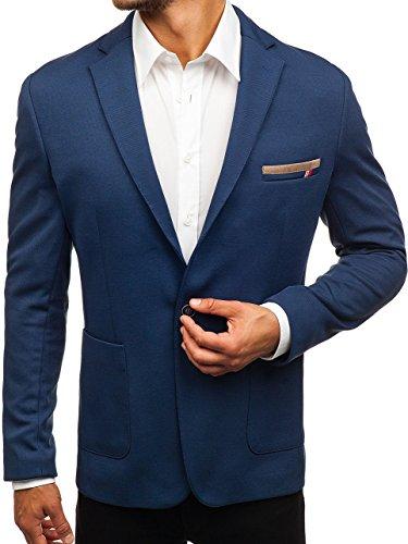 BOLF Hombre Americana Slim Fit Blazer BIBLOS 1141 Gris Grafito S/48 [4D4]