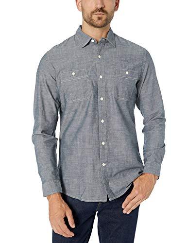 Amazon Essentials - Camisa de cambray con manga larga y cort
