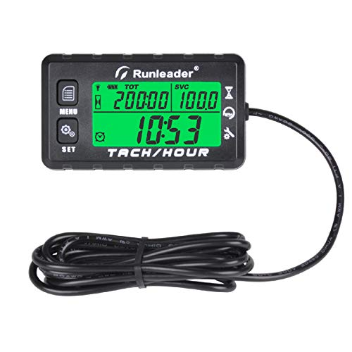 motorcycle air compressor Jayron digital LED Hour Meter Gauge AC//DC 5-277V Voltage,Resettable maintenance interval Data storage Waterproof design for small engines,such as Lawn mower,generator