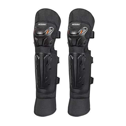 CRMY Rodilleras para Motocicleta, espinilleras Protectoras Antideslizantes con Mangas largas Ajustables para piernas,en el Interior de Terciopelo cálido Engrosado, 1 par