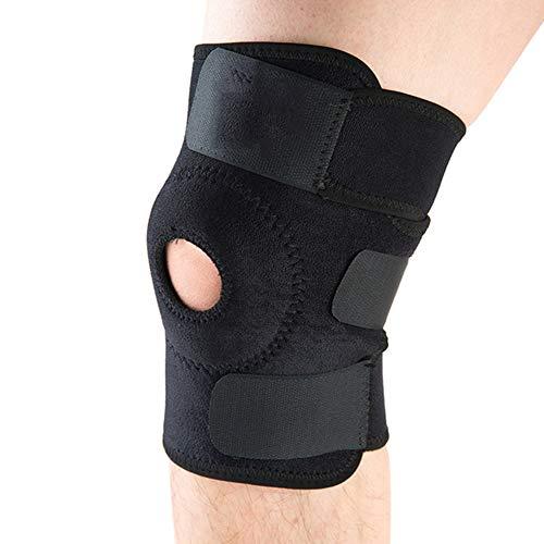 LINBUDAO Verstelbare elastische kniebeschermers, kniebeschermers voor in de sportschool, kniebeschermers voor buiten, sportieve kniebeschermers, hardloopbeschermers