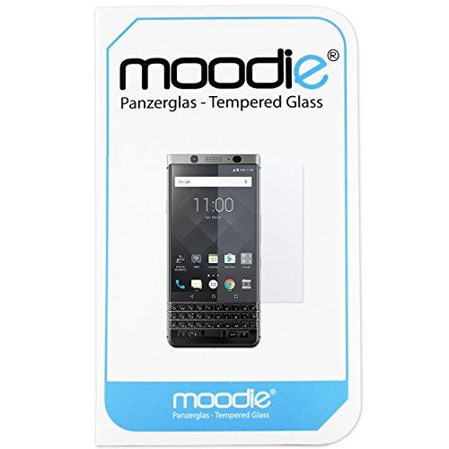 moodie Panzerglas 3D Folie für BlackBerry Keyone - Premium Glasfolie für Gewölbte Bildschirms Full Screen 3D Panzerglasfolie Curved vollständige Bildschirm Abdeckung