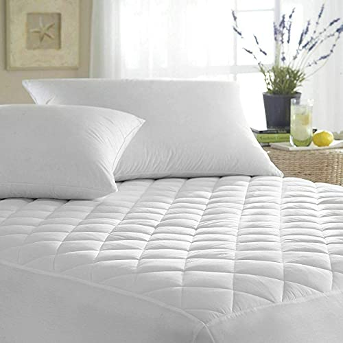 IMFAA Quilted Extra Deep Anti Allergy Mattress Protector, Fitted Mattress Cover. (Double(137x190+40) cm)
