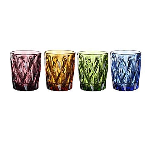 Augus Jacob Wasserglas für Saft Bier Tee Milch Wein Sets 4 Stück 240 ml Cold Drink Gläsern Familie und Freunde Party (Color : 4pcs)