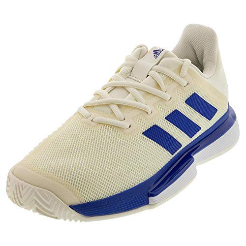 adidas Men's Solematch Bounce M Shoe, Off White/Team Royal Blue/ftwr White, 9- M US
