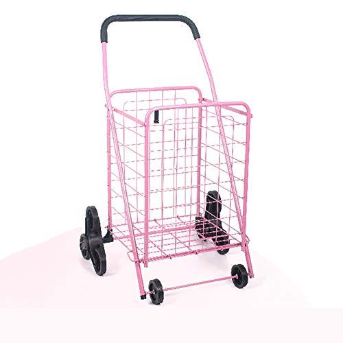 ZSLLO Lebensmittelgeschäft Einkaufswagen Einkaufswagen Trolley Pack Faltbare Wiederverwendbare Lebensmitteleinkaufstasche Öko-Supermarkt-Tasche Einfach zu bedienen und schwere Bolsas