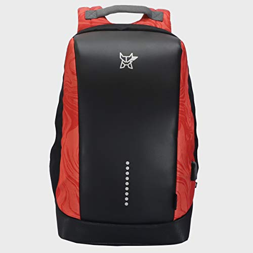 Arctic Fox Slope Anti Theft Backpack with USB Charging Port 15 Inch Laptop Backpack (Red)