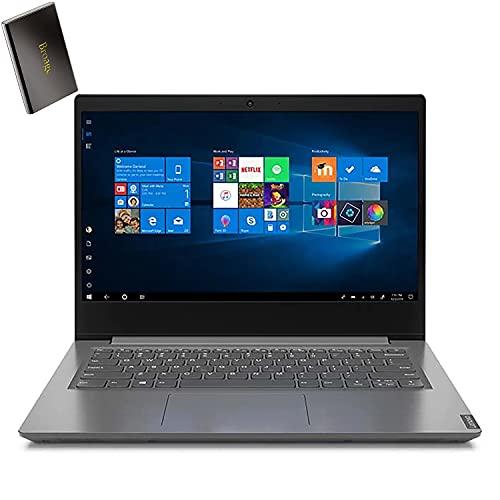 "Lenovo V14 14"" FHD Business Laptop Computer, AMD Athlon Gold 3150U up to 3.3GHz (Beat i3-8130U), 4GB DDR4 RAM, 128GB PCIe SSD, AC WiFi, BT 5.0, Iron Grey, Windows 10 Pro, BROAGE 320GB External HD"
