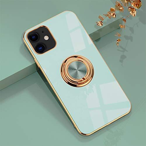 Jacyren Funda para iPhone 11, funda para teléfono móvil iPhone 11, funda protectora ultradelgada con soporte magnético de 360 grados, carcasa de silicona para iPhone 11 (iPhone 11, 7 azul)