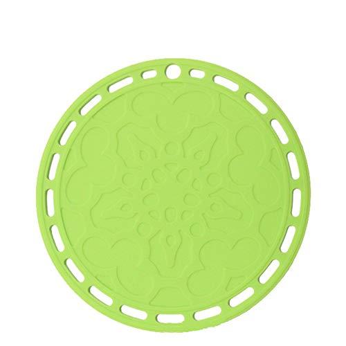 Ensemble polyvalent en silicone de 2, coussin isolant, coussin de coussin de table, dessous de plat, dessous de plat, dessous de verre 20X20X0.4 cm Vert Rond