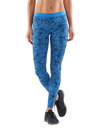 SKINS Dnamic Collant Femme, Sunfeather Graphique Bleu, FR : S (Taille Fabricant : S)