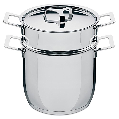 Alessi AJM306SET Pasta-set in 18/10 stainless steel mirror polished, 5-Quart, 9-Ounce