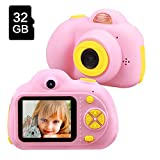 Gifts for 4 5 6 7 8 9 10 Year Old Girls, TekHome Kids Camera for Girls, New Birthday Ideas, Top Toys 2020 for Girls Age 4-10, Pink.