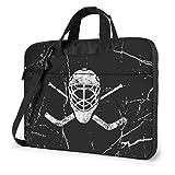 Gekreuzte Goalie Sticks Hockey Laptop Tasche Umhängetasche Computer Tasche Aktentasche Tasche geneigte Umhängetasche 15.6Zoll