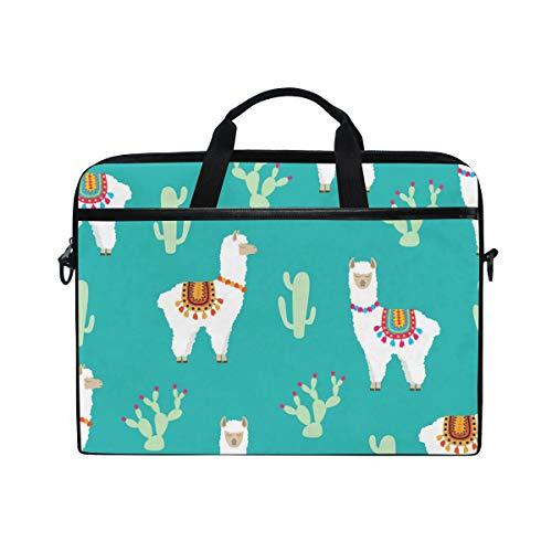 DOSHINE Laptop Bag Case Sleeve Cactus Cute Llama Alpaca Notebook Computer Bag for 14-14.5 inch Adjustable Shoulder Strap, Back to School Gifts for Men Women Boy Girls
