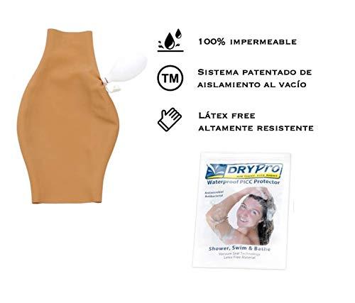 DRYPRO Protector PICC brazo - Funda 100% Impermeable - Para Catéter en el Agua - Evita la infección del punto de inserción - Sistema patentado aislamiento al vacío - Playa, piscina o ducha (Talla M)