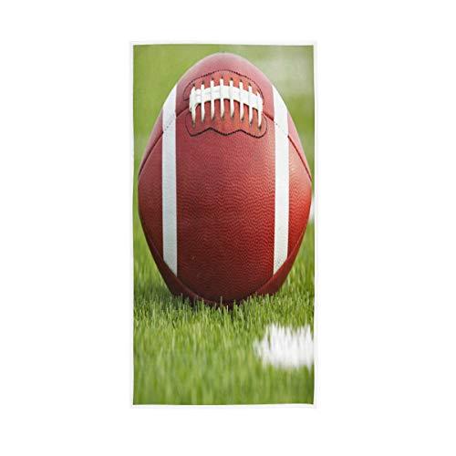 Mnsruu American Football on The Field - Toalla de baño (76 x 38 cm), diseño de balón de fútbol Americano