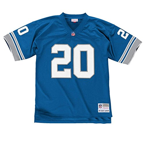 Mitchell & Ness NFL Detroit Lions Barry Sanders 1996 Replica Jersey Small