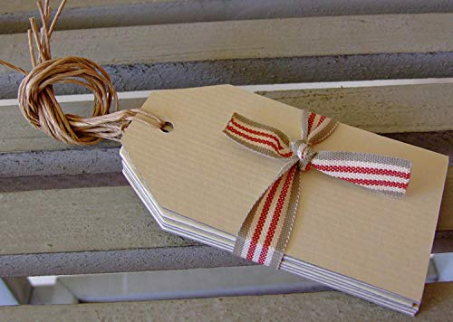 3 x Cream Luggage Gift Tags x Set 6