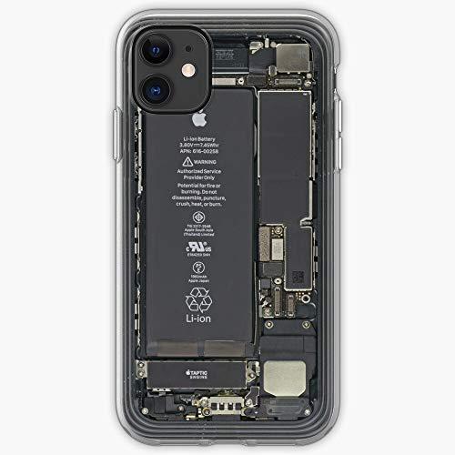 Analyzing Battery Chip Electronic Component Device Electricity Inside Cubierta de la Caja del teléfono de diseño único Snap/Glass para iPhone, Samsung, Huawei - TPU a Prueba de Golpes Inte