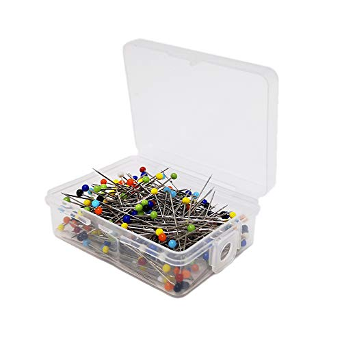250pcs Sewing Pins, 1.5 inch Push Pins, Colorful Glass Head Straight Quilting Pins for DIY Sewing Crafts, Dressmaker Jewelry Decoration