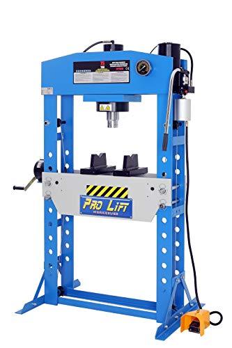 Pro-Lift-Werkzeuge Hydraulik-Presse 75 t Werkstatt Pneumatik-Antrieb Fußpumpe Industriepresse umformen Shop-Press Abkantpresse verschweißt