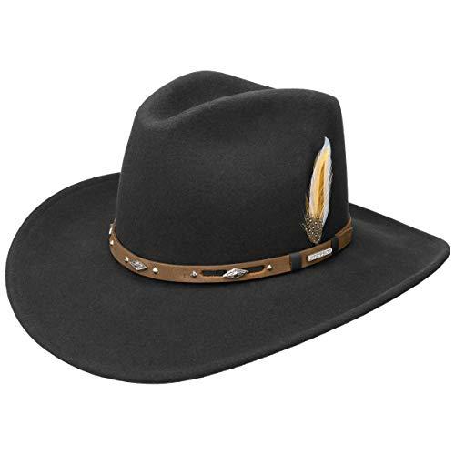 Stetson VitaFelt Hondo - Cappello da Cowboy, Colore: Nero Nero M