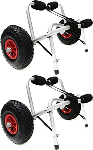 Kayak LOT2 Canoe Jon Boat Carrier Dolly Trailer Trolley Transport Cart Wheel 2 Pack