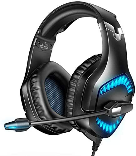 RUNMUS Gaming Headset for PS5, Xbox One, PC Headset with 7.1 Surround Sound, PS5 Headset with Noise Canceling Mic & L...