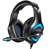 RUNMUS Gaming Headset for PS4, Xbox One, PC Headset with 7.1 Surround Sound, PS4 Headset with Noise Canceling Mic & LED Light, Compatible with Xbox One (Adapter Not Included), PC, PS4, Mac, Laptop