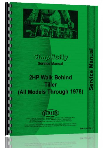 Simplicity Walk Behind Tiller Service Manual