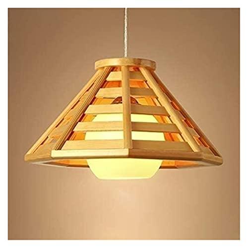 Rnwen Lámpara de araña Estilo Madera Antigua Vintage Loft Bar Pirámide de Cristal Sala de Estar Comedor Estudio Decoración Interior