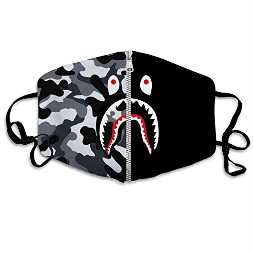 Mundabdeckung Black Bape Shark Face Cover