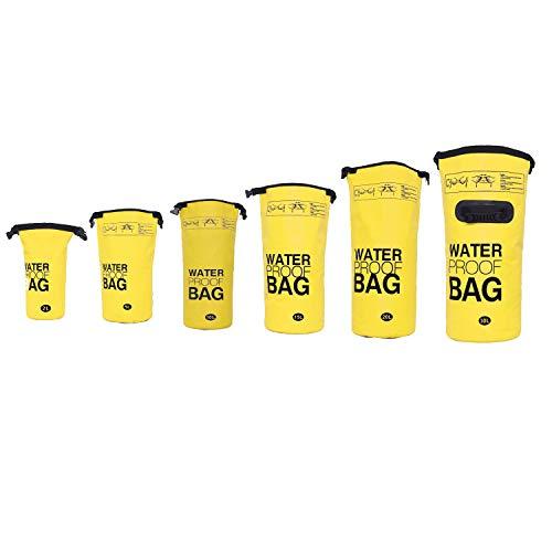 DonDon Borsa Dry Bag Drybag Impermeabile di Alta qualità Porta Attrezzature per i Tuoi Oggetti Giallo 2 Litri